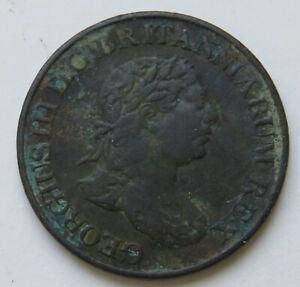 Grossbritannien-Georg-III-Ceylon-1-2-Stiver-1815-Marke-Jeton-Token