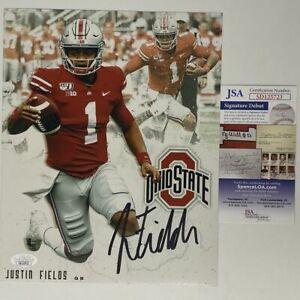 Autographed/Signed JUSTIN FIELDS Ohio State Buckeyes 8x10 Photo JSA COA #2