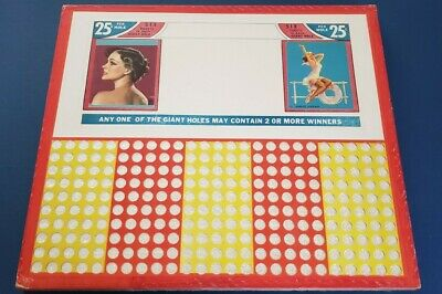 VINTAGE LRG TAVERN MAID PUNCH BOARD 500 PLAYS UNPUNCHED NEW VINTAGE CONDITION