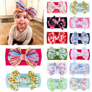 AUBaby-Nylon-Soft-Bow-Head-Wrap-Turban-Top-Knot-Headband-Newborn-Girl-Accessorie