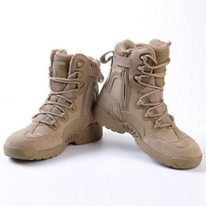 ebb79785ee798 Men s Tactical Combat Military Leather Ankle Boots Outdoor Army Work ...