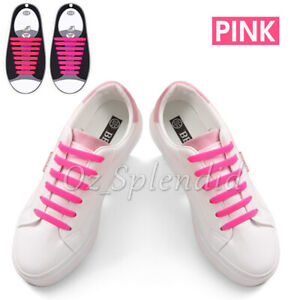Easy Lazy No Tie Elastic Silicone Shoe Laces Cool Guy Shoelaces Kids Unisex
