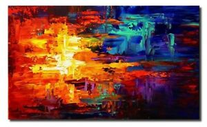ABSTRACT-EXCLUSIVE-HANDMADE-OIL-ACRYLIC-FRAMED-PAINTING-120cm-x-80cm