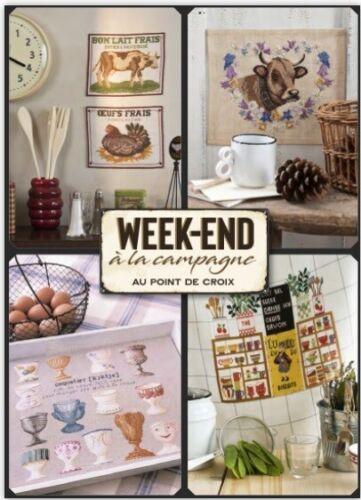 French cross stitch mook week-end a la campagne point de croix