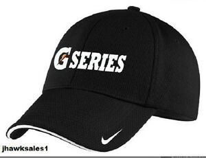 Gatorade-034-G-Series-034-Nike-Golf-Dri-FIT-Mesh-Swoosh-Flex-Sandwich-Cap-Black-NEW