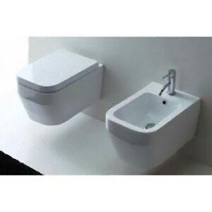 Sanitari In Ceramica Per Bagno.Sanitari In Ceramica Per Bagno Italia Tipo Sospeso Wc E Bidet Cloe