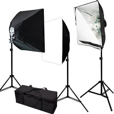 2400W Julius Studio Photo Video 3 Softbox Continuous Light Lighting Studio Kit