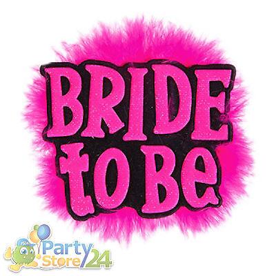 "Party Brosche ""Bride to be"" Junggesellinnenabschied Braut Fasching Karneval JGA"