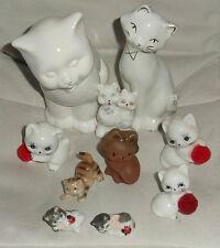 Konvolut Keramik Porzellan Katzen Katze Dekokatzen Katzenfiguren Tierfiguren