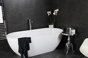 Lovely Image Is Loading Swish Marbrex Anthracite Tile Effect Sample Piece Bathroom