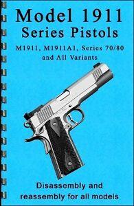 1911 45 Pistol ACP Guide Manual Book Colt Kimber Taurus   eBay