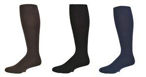 Sierra-Socks-Men-039-s-3-Pair-Pack-Classic-Dress-Over-the-Calf-Cotton-Socks-M3300