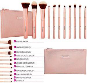 4b1f0e445e64a BH Cosmetics - Metal Rose - 11 Piece Brush Set With Cosmetic Bag ...