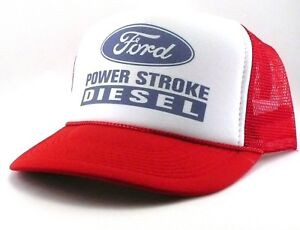 b3ad276a8c1 Ford Diesel Trucker Hat mesh hat snapback hat red new power stroke ...