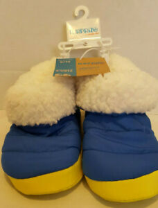 Surprize-by-Stride-Rite-Blue-Slippers-Size-Large-9-10-Blue-yellow