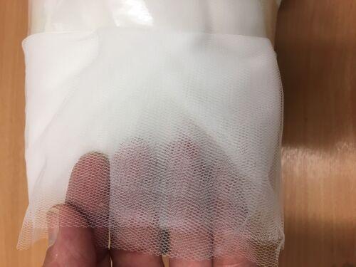 100M Silk White Bridal Veil Wedding Tulle Net Mesh Material Seconds 3 Metre Wide