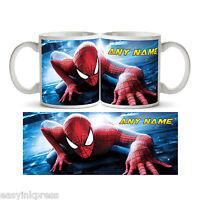 SPIDERMAN PERSONALISED MUG Cup Tea Custom Any Name Marvel Kids Birthday Gift NEW