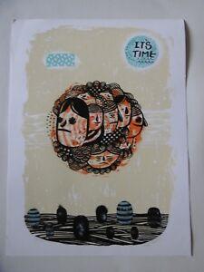 Litografía Ryan Bubnis Cuadro Mano Cartel Firmada Por L Artista Y Numerada