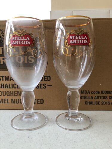 Stella Artois Stunning Limited  Edition Pint Glass X2 B//New Bargain Price