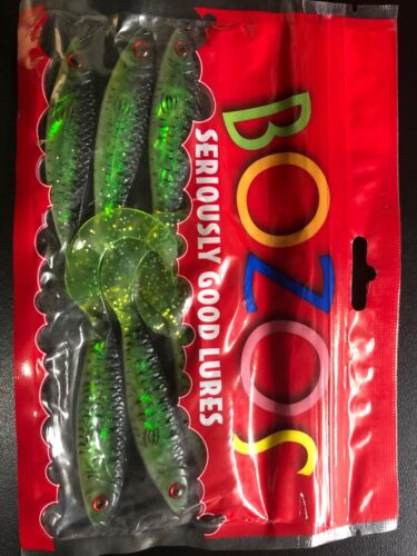 BOZOS SOFT PLASTICS LURES 75mm SMELT GALAXIA 6 IN A PACK TROUT REDFIN blimey