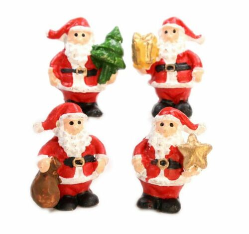 "Santa 1/"" Standing Dollhouse Minis Set of 4 205-6103"