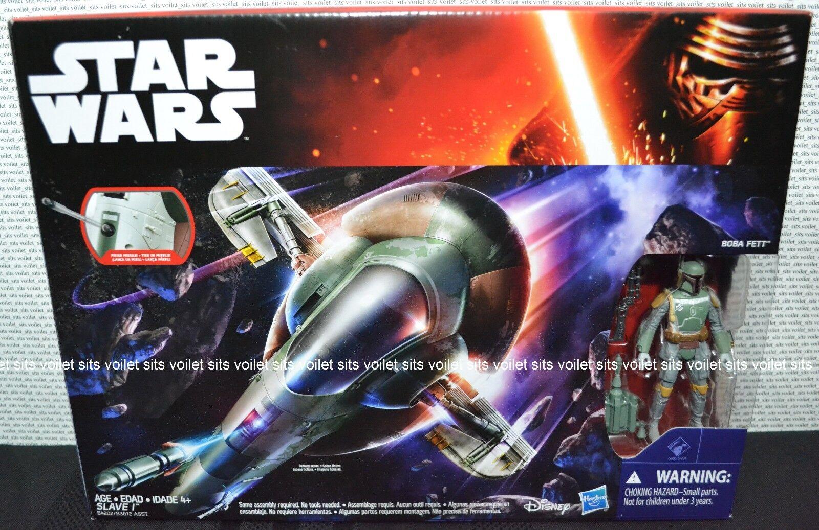 Star Wars The Force Awakens Series 3.75  Boba Fett Figure & Slave 1 Vehicle
