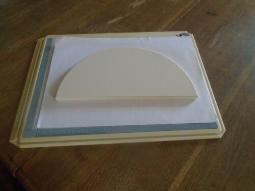 YNNI Universal BBQ Kamado Half Moon Ceramic Plate Setter Stone 30.5 cm TQHMPS305