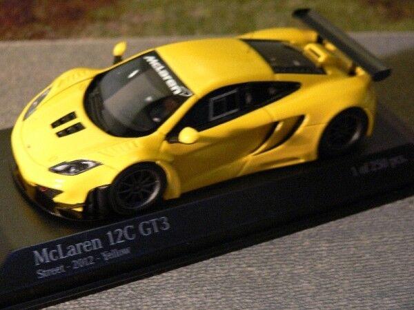 1/43 MINICHAMPS McLAREN 12 C gt3 Street 2012 jaune 437 121396 | Produits De Qualité