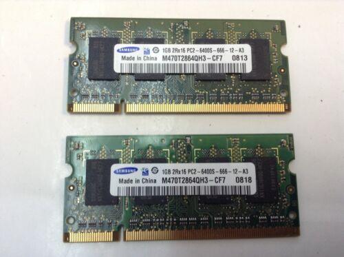 2GB Memory 2 x 1GB DDR2 800MHz PC2-6400 SODIMM RAM Apple Mac Pro iMac MacBook