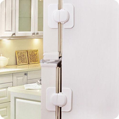 Adhesive Kids Child Baby Safety Lock For Cabinet Door Drawer Cupboard Fridge