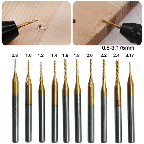 10x 1//8/'/' 0.8-3.175mm PCB Drill Bit Set Engraving Cutter Rotary CNC End Mill US
