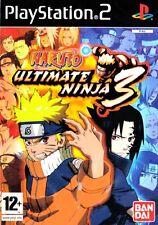 Naruto Ultimate Ninja 3 PlayStation 2 PS2 PAL Brand New