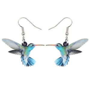 Acrylic-Voilet-Hummingbird-Bird-Earrings-Dangle-Jewelry-For-Women-Fashion-Gifts