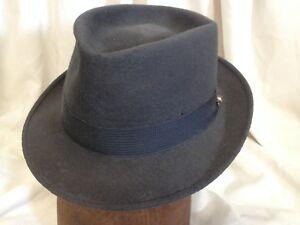Vintage 1950s Royal Stetson Alexander s Gray Fur Felt Fedora Hat w ... 0eaa86c0e178