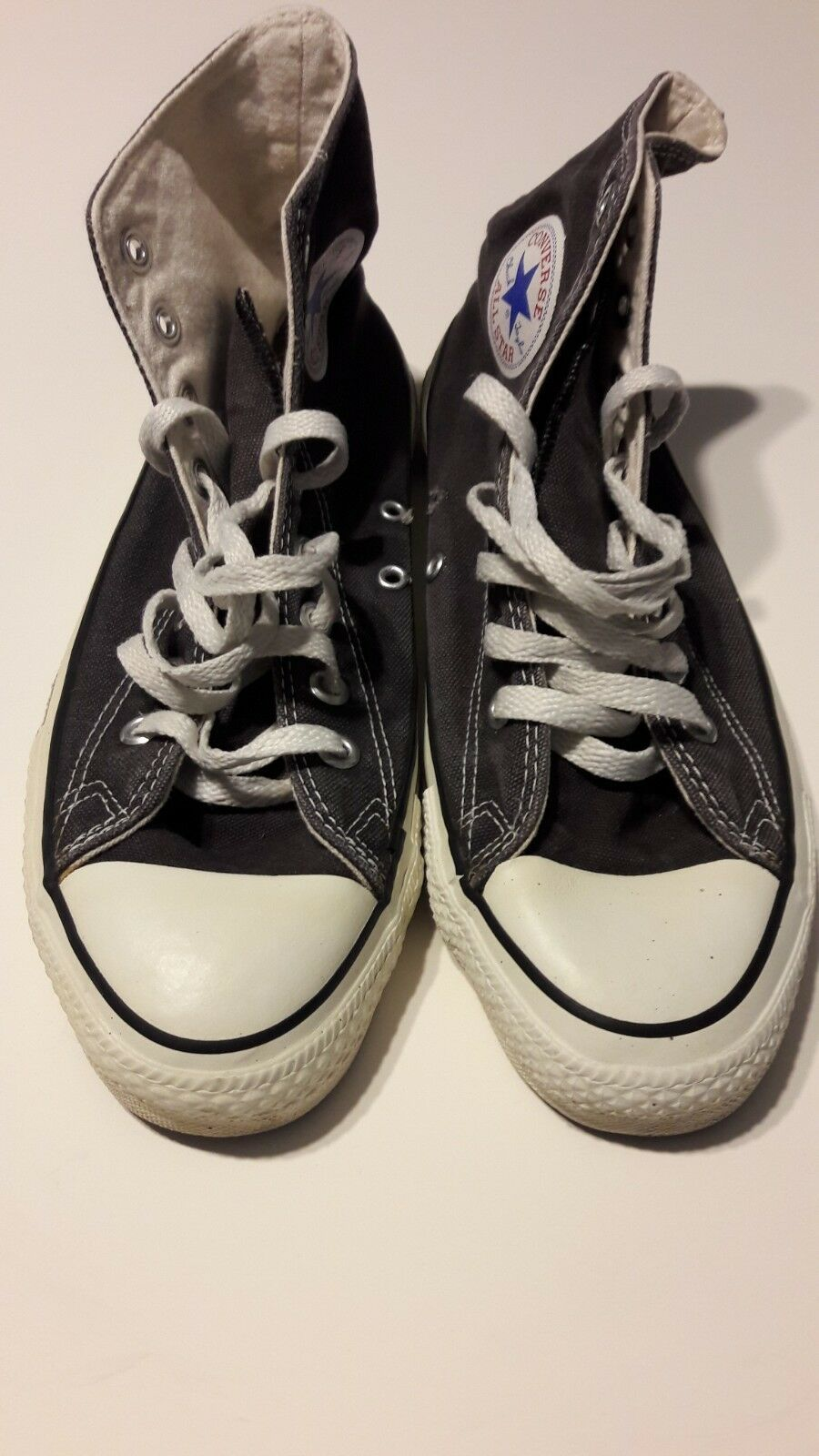 promo code 13f5d be92e VINTAGE CONVERSE ALL STAR CHUCK TAYLOR BLACK HIGH HIGH HIGH TOP SIZE 9M  MADE IN USA