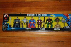 Superman Joker Lex Série d'animation Luthor Batman Bas-mib-4 Pack Heroes Villains