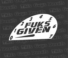 zero FUKS GIVEN decal jdm vinyl turbo race  window car stickers subaru illest