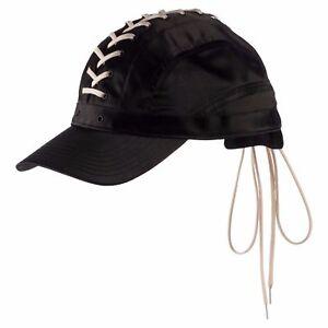 Puma X Fenty by Rihanna LACE UP CAP Black Vanilla Ice All Satin OSFM ... 3d8a14c88409