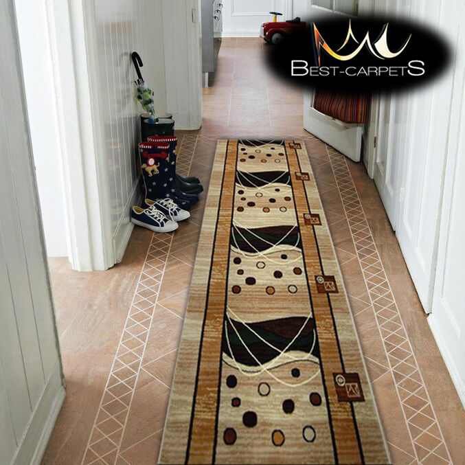 Épais hall runner heat set primo primo primo 4626 beige largeur 70-140cm extra long soft rugs | La Qualité Des Produits  10bd8c