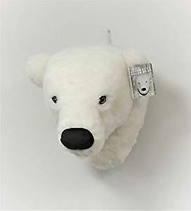 wall mounted decorative polar bear head extra soft perfect for