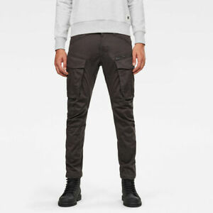 G-Star - Rovic Zip 3D Straight Tapered Cargo Pant - W35/L32 - Mens GStar - Raven