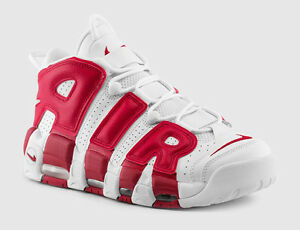 2016-Nike-Air-More-Uptempo-White-GYM-RED-OG-415082-100-Chicago-Bulls-Pippen-5-5Y