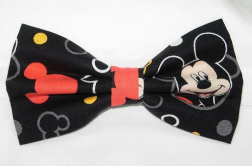 Pre-tied Bow tie Red Suspenders Mickey Mouse on Black Bow tie /& Suspenders