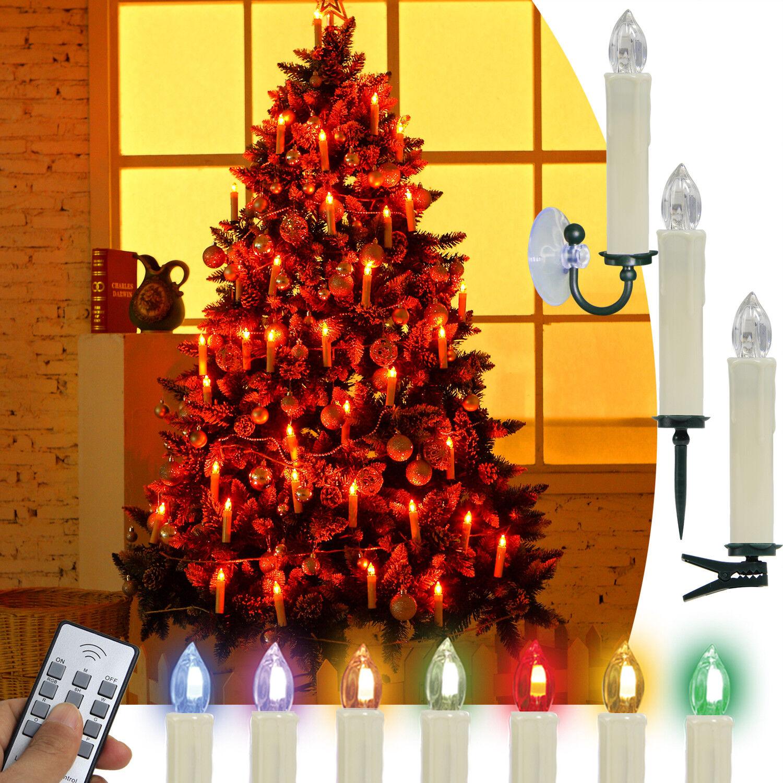 Kabellose RGB & Warmweiß Weihnachtskerzen Lichterkette Weihnachtsbaumbeleuchtung