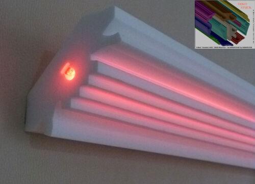 """4 Innenecken /""""Eicke/"""" Stuckleiste Stuckprofil Zierprofil LED Beleuchtung 26Meter"""