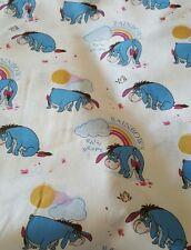 Disney Winnie the pooh - Eeyore Rainbows 100 % cotton Fat quarter