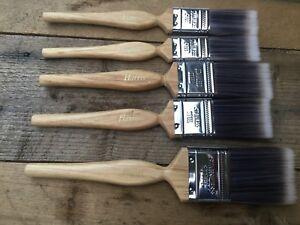 Set-of-5-Harris-Paint-Brush-Platinum-Contractor-Paint-Brushes-Wooden-Handle-inch