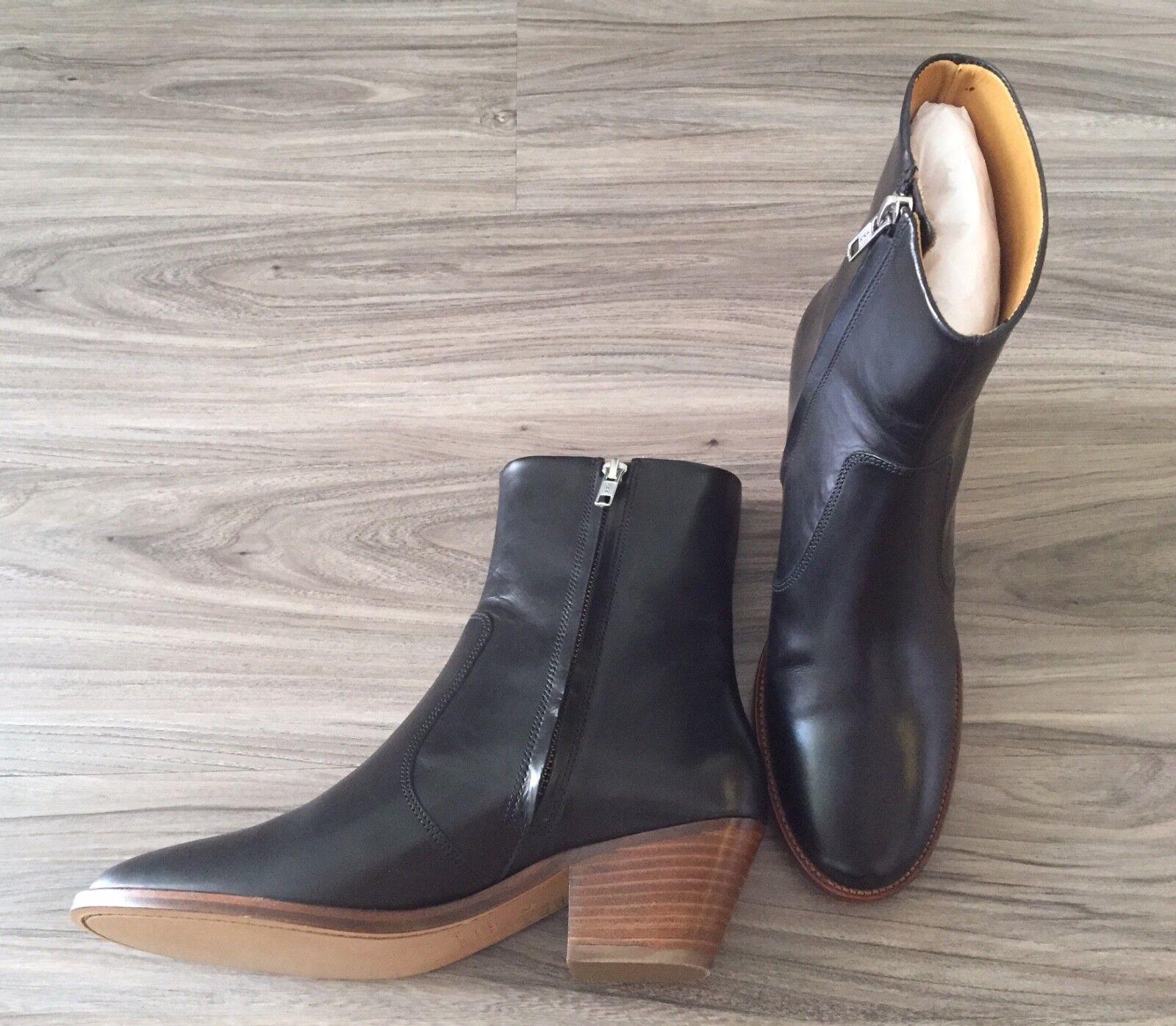 Nueva Con Caja Org.  670 40 Isabel Marant Étoile doynie Lustrados-Cuero Tobillo botas 40 670 f5e9ed