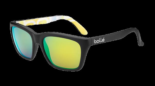 78880542e9c Bolle 527 Sunglasses - 12050- MtBlk MtBlk Graph w  Polarized Brown Emerald  Lens