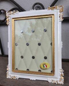Bilderrahmen-Weiss-Gold-Barock-14x17-Fotorahmen-Antik-Rahmen-Jugendstil-Deko